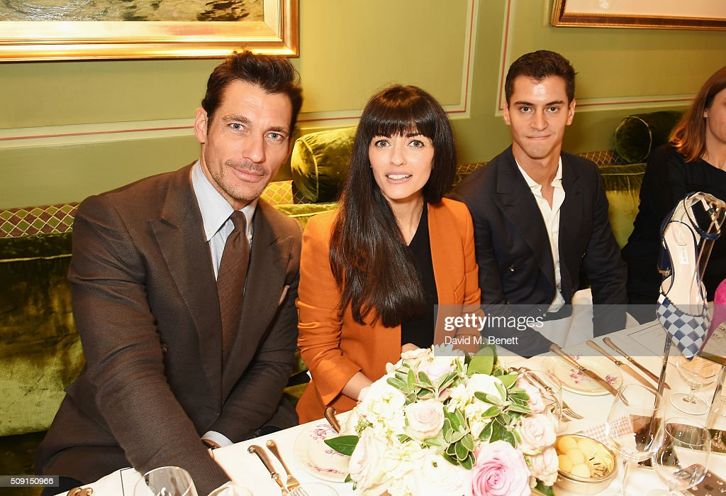 <a gi-track='captionPersonalityLinkClicked' href=/galleries/search?phrase=David+Gandy&family=editorial&specificpeople=4377663 ng-click='$event.stopPropagation()'>David Gandy</a>, Natalia Barbieri, designer and founder of Bionda Castana, and Andrew Barker attend the L.K.Bennett x Bionda Castana lunch at Mark's Club on February 9, 2016 in London, England.