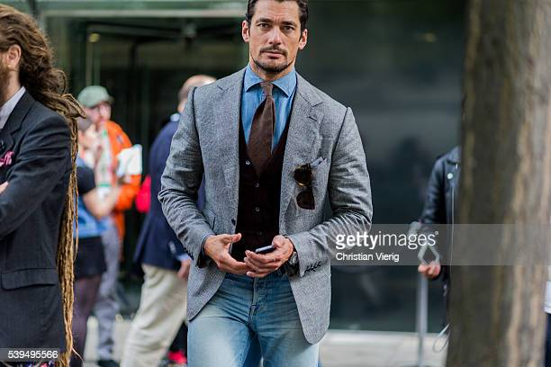 David Gandy outside E Tautz during The London Collections Men SS17 on June 11 2016 in London England