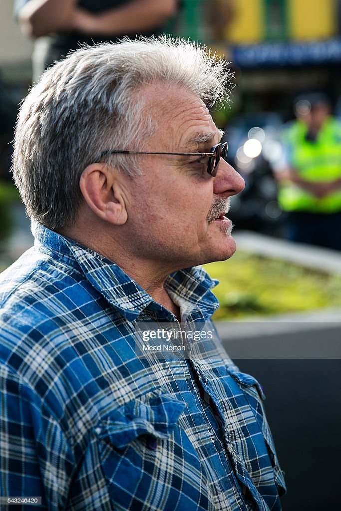 David Garret of the Sensible Sentancing Trust is seen outside the Rotorua Distruct Court on June 27, 2016 in Rotorua, New Zealand. Three year old toddler Moko Rangitoheriri died on August 10, 2015 from injuries he received during prolonged abuse and torture at the hands of his carers. His killers Tania Shailer and David Haerewa were sentenced at Rotorua High Court today.