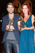 David Garrett and Andrea Berg attend the Bambi Awards 2013 at Stage Theater on November 14 2013 in Berlin Germany