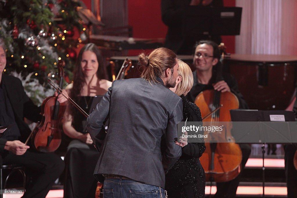 David Garrett and Carmen Nebel attend 'Die Schoensten Weihnachtshits Mit Carmen Nebel' Show on December 6, 2012 in Munich, Germany.