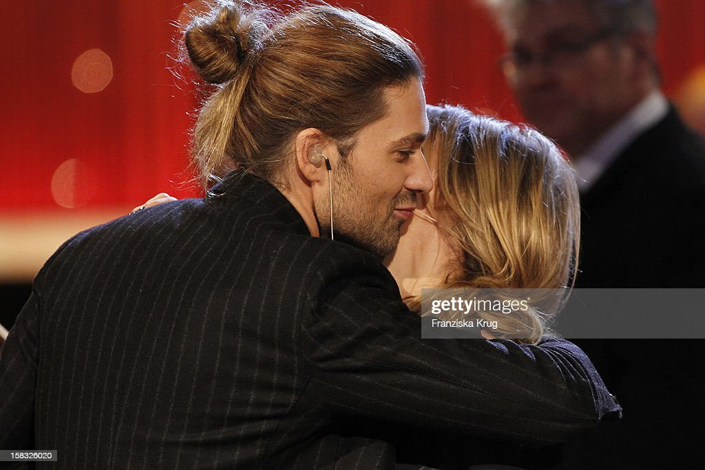 David Garrett and Kim Fisher perform during the 18th Annual Jose Carreras Gala - Rehearsals on December 13, 2012 in Leipzig, Germany.