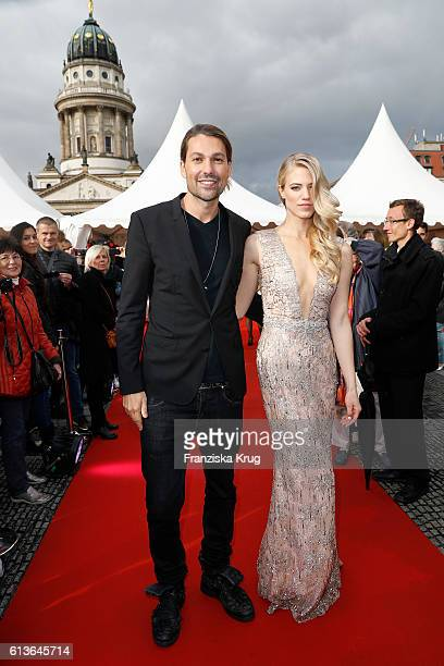David Garrett and Larissa Marolt attend the ECHO Klassik 2016 at Konzerthaus Am Gendarmenmarkt on October 09 2016 in Berlin Germany