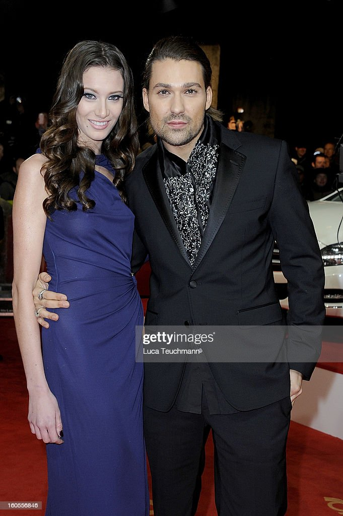 David Garrett and Tatjana Gellert attend the 48th Golden Camera Awards at the Axel Springer Haus on February 2, 2013 in Berlin, Germany.