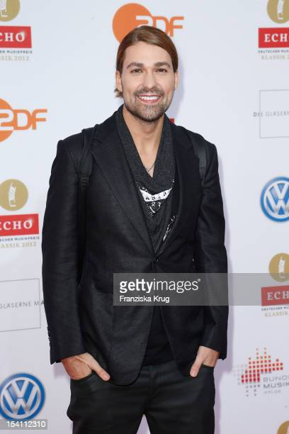 David Garrett arrives at the Echo Klassik 2012 award ceremony at Konzerthaus Berlin on October 14 2012 in Berlin Germany