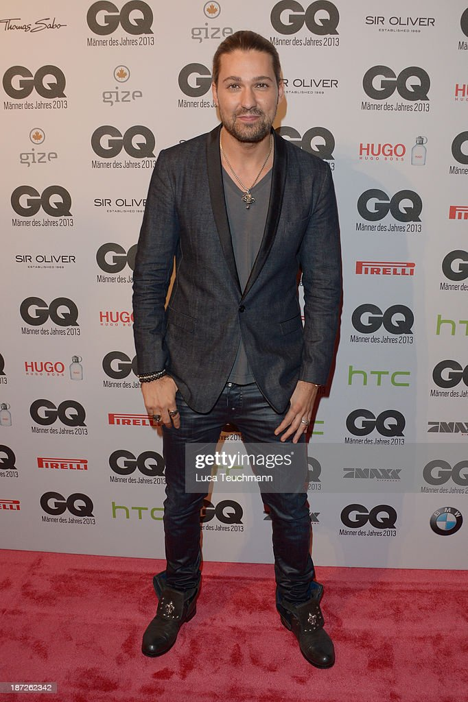 <a gi-track='captionPersonalityLinkClicked' href=/galleries/search?phrase=David+Garrett&family=editorial&specificpeople=4603343 ng-click='$event.stopPropagation()'>David Garrett</a> arrives at the GQ Men of the Year Award at Komische Oper on November 7, 2013 in Berlin, Germany.