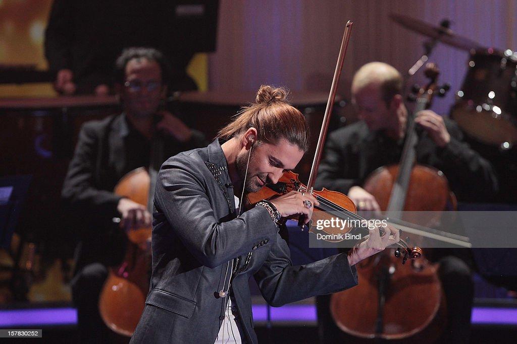 David Garrett attends 'Die Schoensten Weihnachtshits Mit Carmen Nebel' Show on December 6, 2012 in Munich, Germany.