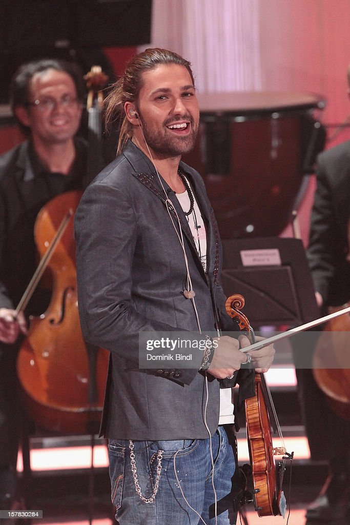 David Garrett attends 'Die Schoensten Weihnachtshits Mit Carmen Nebel' Show on December 6, 2012 in Munich, Germany.
