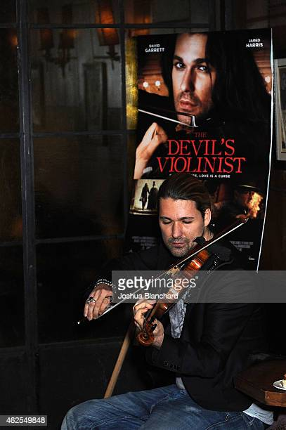 David Garrett attends 'The Devil's Violinist' Screening Party and QA on January 30 2015 in West Hollywood California