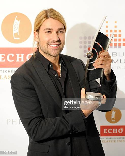 David Garrett attends the Echo Klassik Award 2010 at Philharmonie on October 17 2010 in Essen Germany
