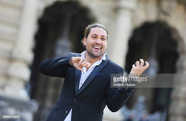 David Garrett attends the 'Il Violinista del Diavolo' at Piazza Cavour photocall on February 17 2014 in Rome Italy