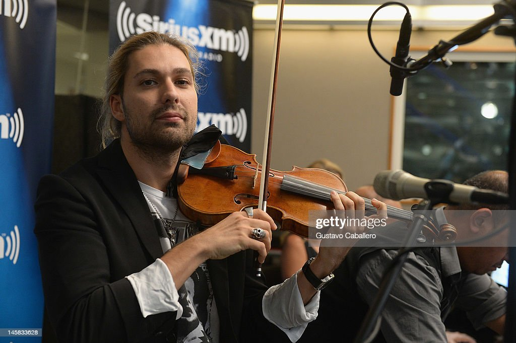 David Garrett performs as part of SiriusXM's 'Artist Confidential' series on SiriusXM Pops on June 6, 2012 in New York City.