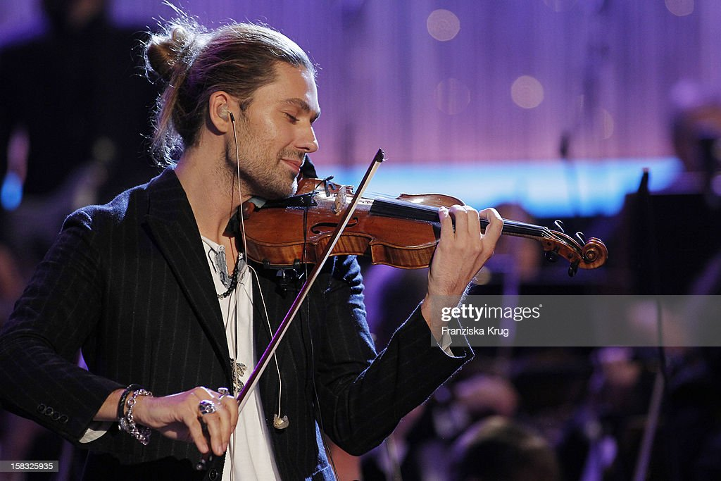 <a gi-track='captionPersonalityLinkClicked' href=/galleries/search?phrase=David+Garrett&family=editorial&specificpeople=4603343 ng-click='$event.stopPropagation()'>David Garrett</a> performs during the 18th Annual Jose Carreras Gala - Rehearsals on December 13, 2012 in Leipzig, Germany.