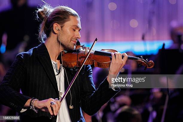 David Garrett performs during the 18th Annual Jose Carreras Gala Rehearsals on December 13 2012 in Leipzig Germany