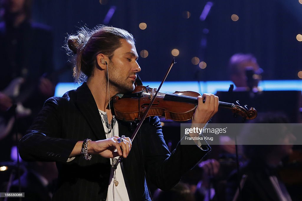 David Garrett performs during the 18th Annual Jose Carreras Gala - Rehearsals on December 13, 2012 in Leipzig, Germany.