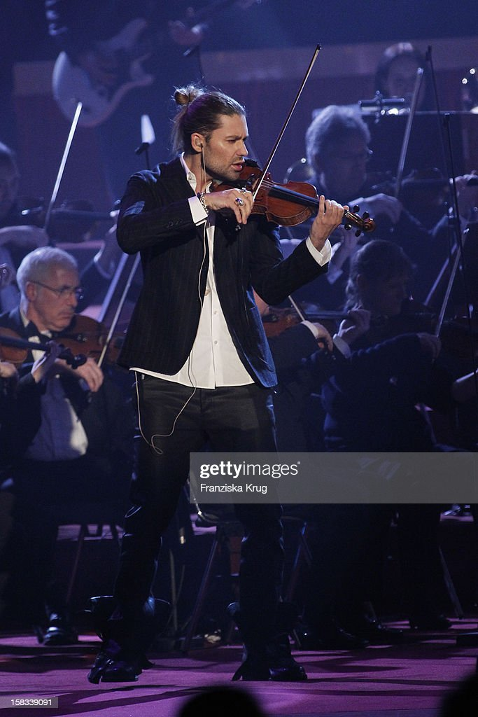 David Garrett performs during the 18th Annual Jose Carreras Gala on December 13, 2012 in Leipzig, Germany.