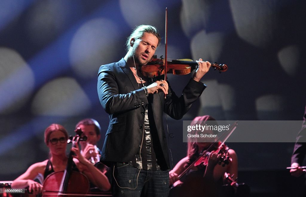 David Garrett performs during the 20th Annual Jose Carreras Gala on December 18 2014 in Rust Germany