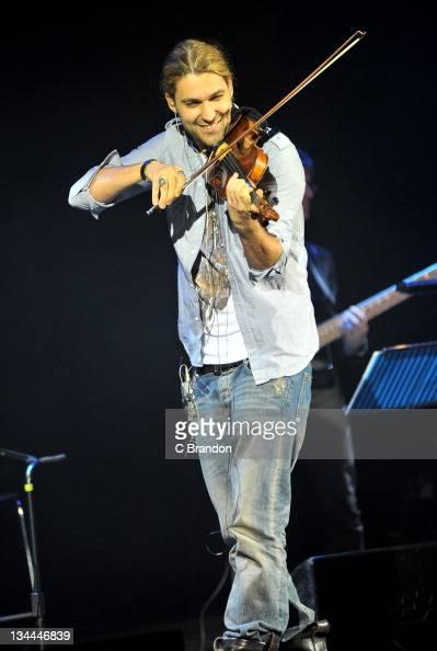 David Garrett performs on stage at Shepherds Bush Empire on December 1 2011 in London United Kingdom