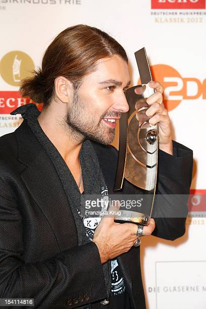 David Garrett receives an award at the Echo Klassik 2012 award ceremony at Konzerthaus Berlin on October 14 2012 in Berlin Germany