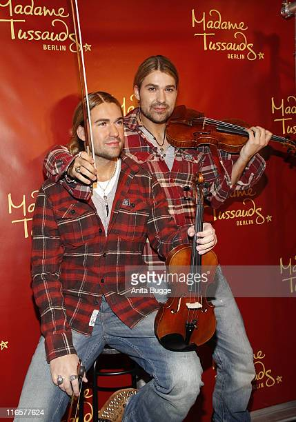 David Garrett unveils his wax figure at Madame Tussaud's on June 16 2011 in Berlin Germany