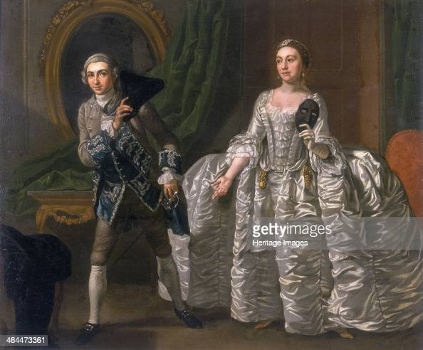 'David Garrick and Hannah Pritchard in a Scene from The Suspicious Husband' 1752 Garrick in the character of Ranger has just realised that the masked...