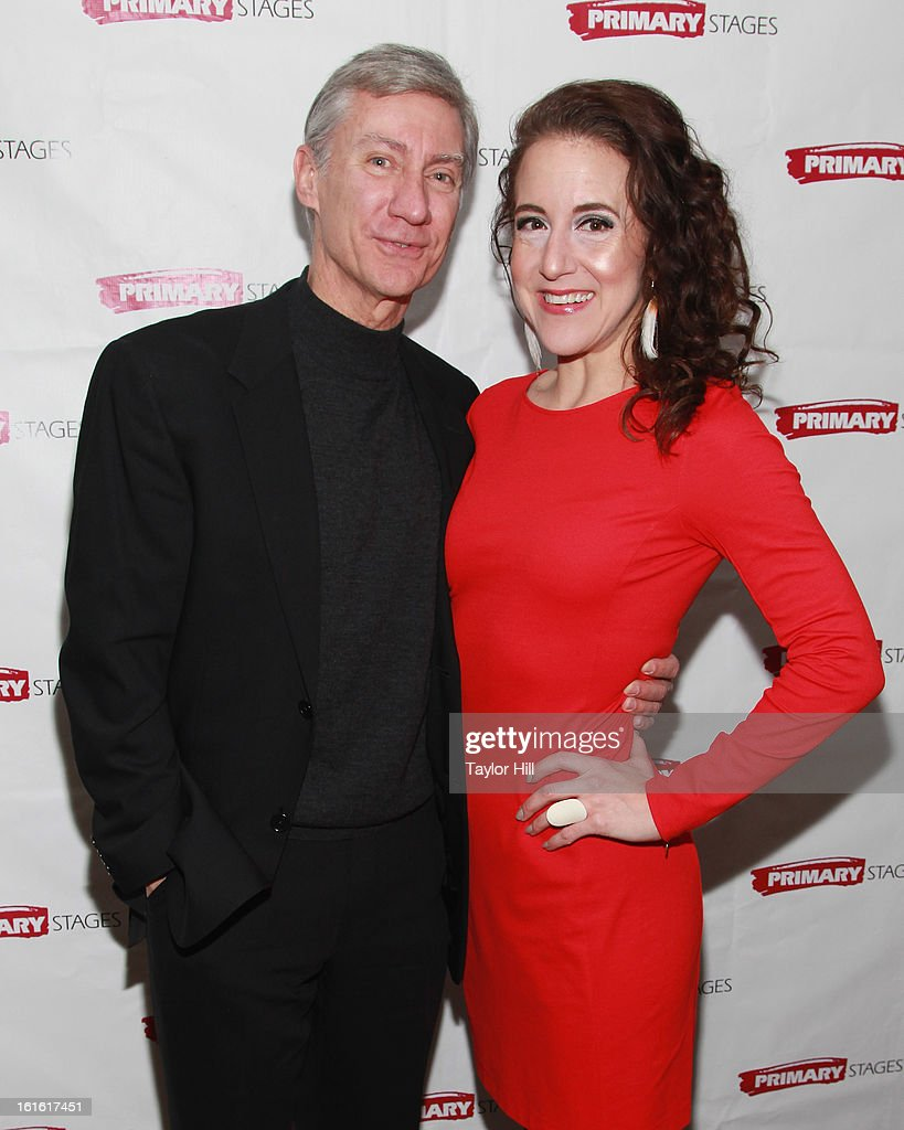 David Garrison and Jenna Harris attend the 'All In The Timing' 20th Anniversary Opening Night Reception at The Volstead on February 12, 2013 in New York City.