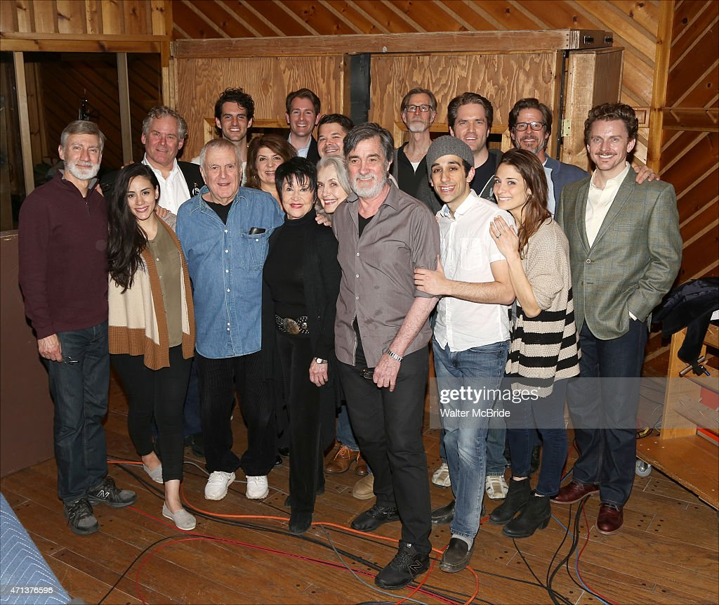 David Garrison, John Kander, Chita Rivera, Mary Beth Peil, Roger Rees, George Abud, Jason Danieley and the ensemble cast during the original broadway cast recording of 'The Visit' at Avatar Recording Studio on April 27, 2015 in New York City.
