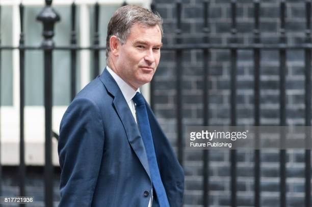 David Gauke the Secretary of State for Work and Pensions arrives for a weekly cabinet meeting at 10 Downing Street on July 18 2017 in London England...