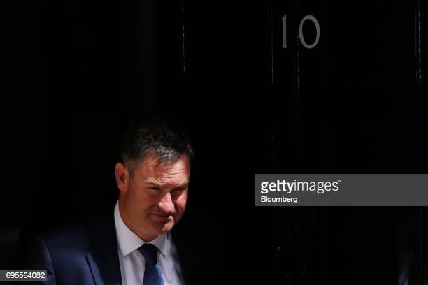 David Gauke UK work and pensions secretary leaves number 10 Downing Street following a meeting of cabinet ministers in London UK on Tuesday June 13...