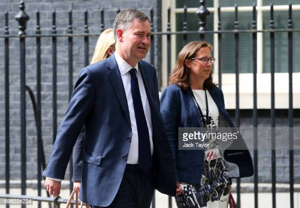 David Gauke Work and Pensions Secretary leaves 10 Downing Street on June 12 2017 in London England British Prime Minister Theresa May held her first...