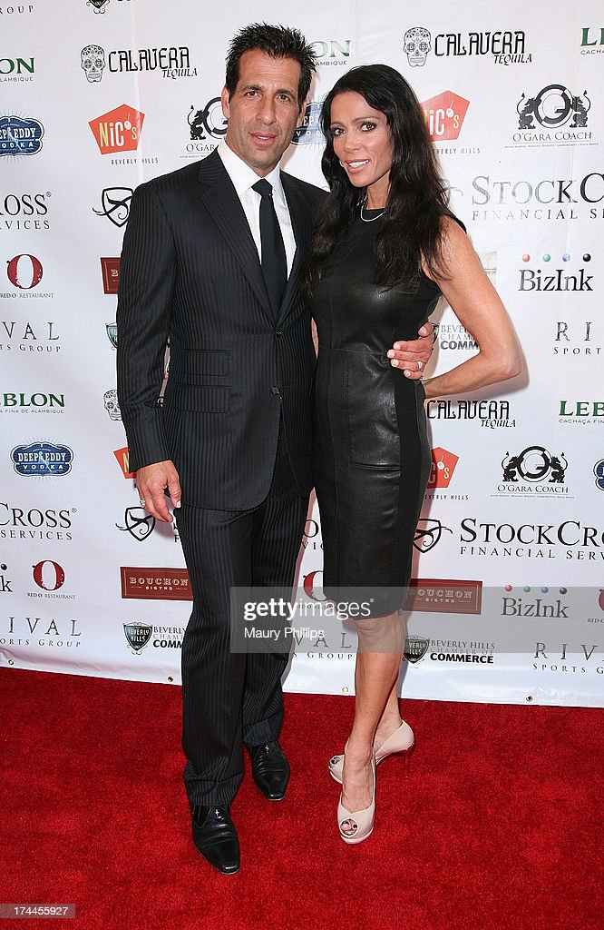 David Gebbia and Carlton Gebbia arrive at the 40th Anniversary StockCross Party on July 25, 2013 in Beverly Hills, California.