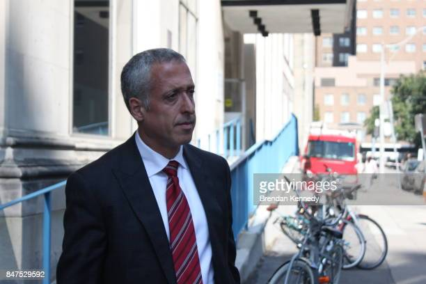 David Gelbloom lawyer and human resources manager for Fiera Foods exits provincial offences court in downtown Toronto on Sept 14 2017 after the...