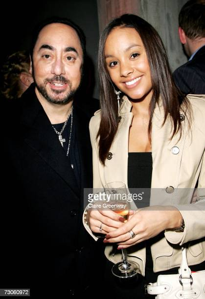 David Gest and his guest Tania attend the after party following the UK premiere of 'Dreamgirls' at the Hayward Gallery on January 21 2007 in London...