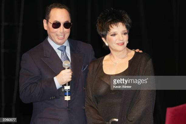 David Gest and Liza Minnelli at the House of Blues in West Hollywood Ca to announce they will star in a new weekly musical reality series to air on...