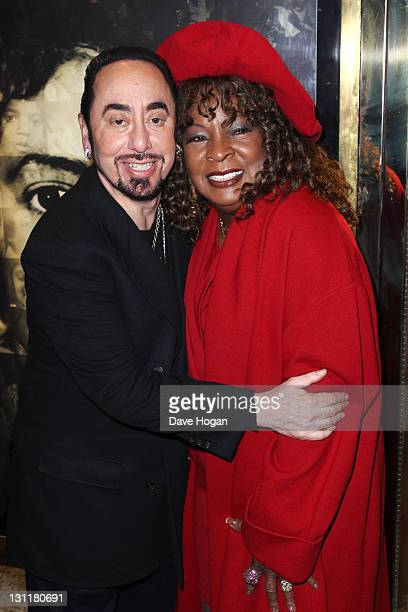 David Gest and Martha Reeves attend the UK premiere of 'Michael Jackson The Life Of An Icon' at The Empire Leicester Square on November 2 2011 in...