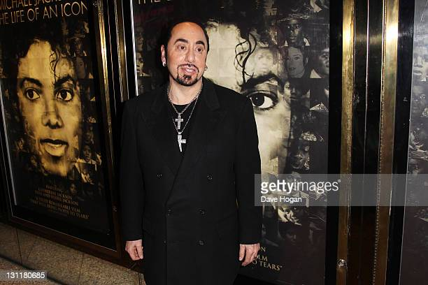 David Gest attends the UK premiere of 'Michael Jackson The Life Of An Icon' at The Empire Leicester Square on November 2 2011 in London United Kingdom