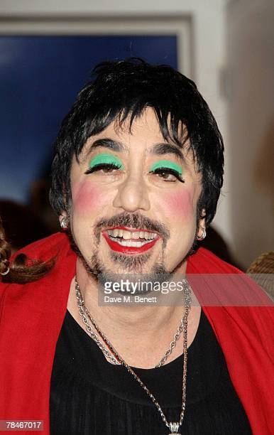 David Gest dressed as Liza Minelli poses backstage before the performance of 'Twisted Carole' at the Notting Hill Tabernacle on December 13 2007 in...