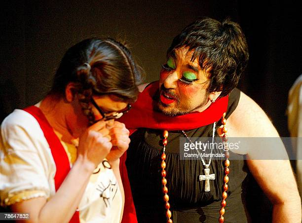 David Gest dressed as Liza Minelli stars in 'A Twisted Carol' at the Tabernacle Arts Center on December 13 2007 in London England