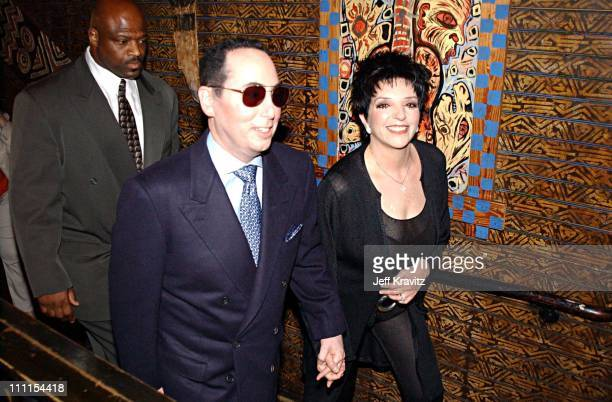 David Gest Liza Minnelli during Liza Minnelli and David Gest Press Conference at House of Blues at House of Blues in West Hollywood California United...