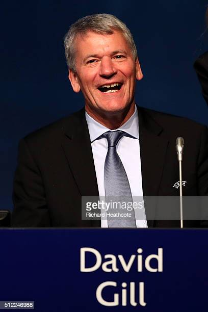David Gill during the UEFA XI Extraordinary Congress at the Swissotel on February 25 2016 in Zurich Switzerland FIFA will hold a Extraordinary...