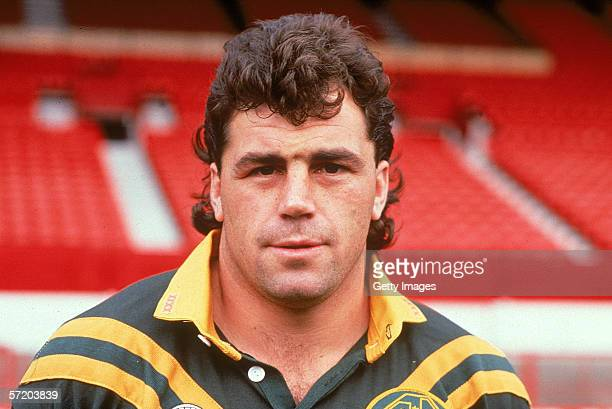 David Gillespie of the Australian Kangaroos poses for a headshot during the Kangaroos tour of Great Britain 1990 in London UK