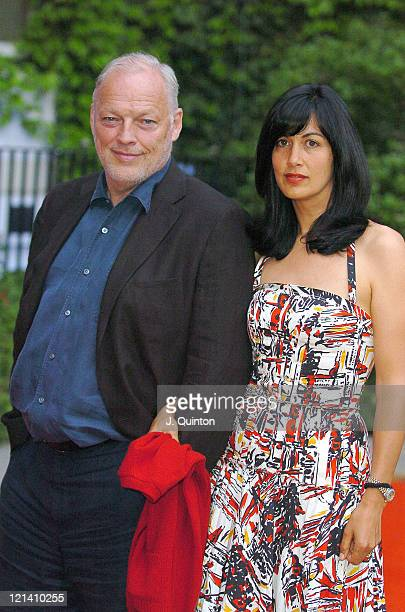 David Gilmour and guest during Habitat 40th Anniversary Party Arrivals at In And Out Club in London Great Britain