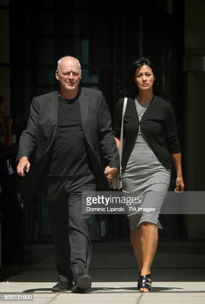 David Gilmour and his wife Polly Samson leave Kingston Crown Court following the sentencing of their son Charlie Gilmour who has been jailed for 16...