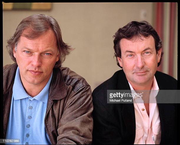David Gilmour and Nick Mason of Pink Floyd portrait London May 1988