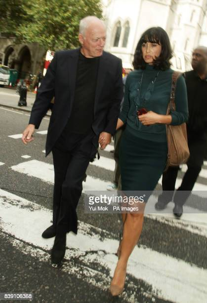 David Gilmour and wife Polly Samson the parents of Charlie Gilmour leave the Royal Courts of Justice London after hearing a plea on behalf of their...