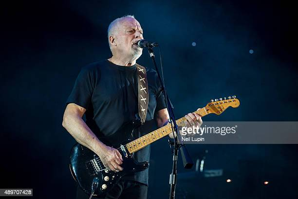 David Gilmour performs at the Royal Albert Hall on September 23 2015 in London England