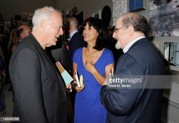 David Gilmour Polly Samon and Salman Rushdie attend the Royal Academy of Arts Summer Exhibition Preview Party at Royal Academy of Arts on May 30 2012...