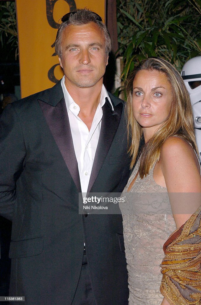 David Ginola and Coraline Ginola during 2005 Cannes Film Festival - Star Wars Afterparty in Cannes, France.