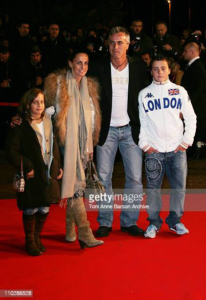 David Ginola and Family during 2006 NRJ Music Awards Arrivals at Palais des Festivals in Cannes France
