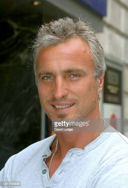 David Ginola during 'Mr Firecul' London Premiere Arrivals at Odeon Covent Garden in London Great Britain